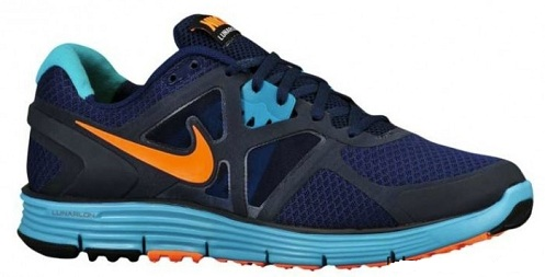 Nike LunarGlide+ 3 - Binary Blue/Dark Obsidian-Volt-Total Orange