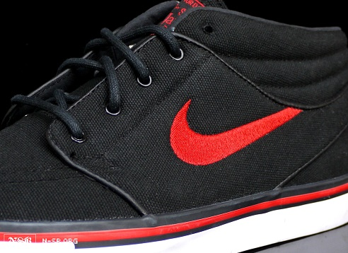 Nike SB Stefan Janoski Mid - Black/Sport Red