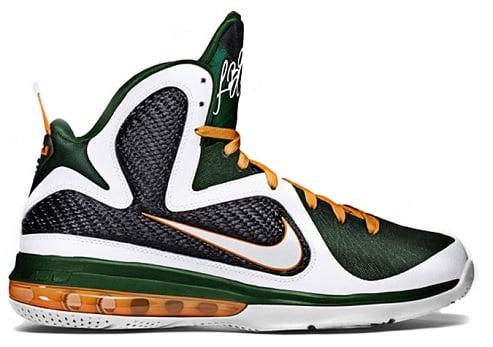 Release Reminder: Nike LeBron 9 'Miami Hurricanes'