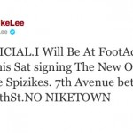 "Spike Lee to Sign ""Knicks"" Spiz'ikes Saturday in NYC"