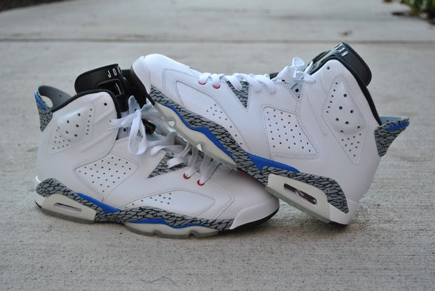Air Jordan VI (6) True Blue Customs - by El Cappy