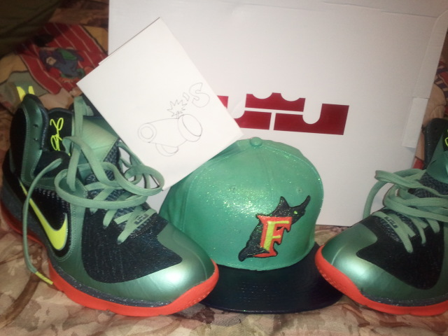 los angeles 4b437 dba14 well-wreapped Custom Cannon Fitted for Nike Lebron 9 Cannon
