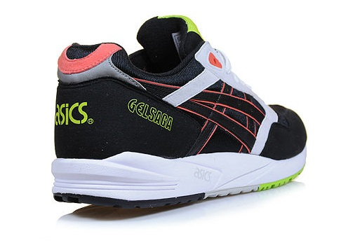 Asics Gel Saga Sneaker Black Light Grey Mint H137K 9011 Pinterest