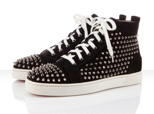 size 40 8bda7 18880 Christian Louboutin Louis Flat Spikes - Black/White ...