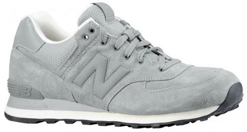 New Balance 574 Lux Suede - Cool Grey/White