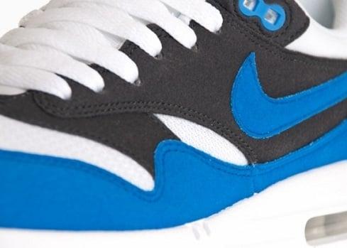 Nike Air Max 1 - White/Signal Blue-Anthracite-Platinum