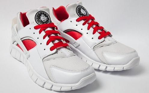 Nike Huarache Free 2012 - White/Red