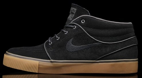 sports shoes 0eef4 837eb Nike SB Zoom Stefan Janoski Mid - Black/Gum | SneakerFiles