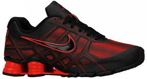 nike shox red and black