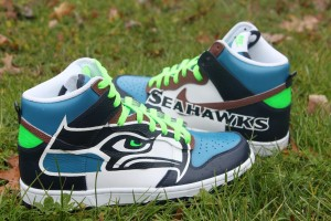 Seattle Seahawks Nike Dunk High by Proof Culture  e47004c31