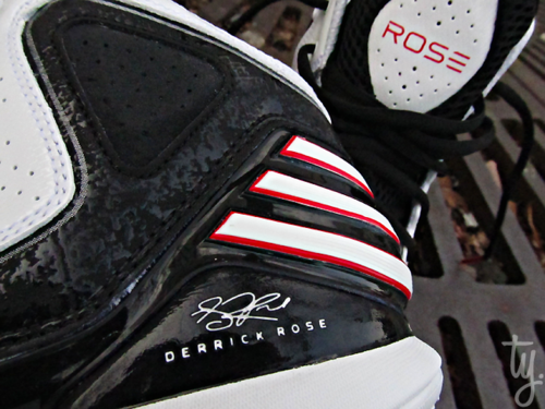 sports shoes 3305a 77f3c adidas adiZero Rose 773 White Black-Red
