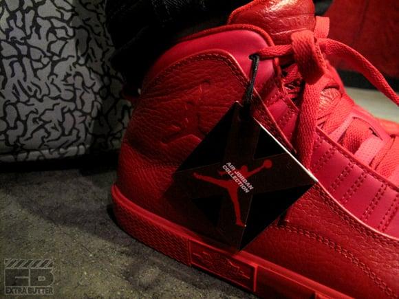 Air Jordan X Auto Clave Varsity Red Side
