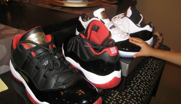 Air Jordan XI (11) Retro Low Concord + Black/Red Samples