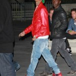 Celebrity Sneaker Watch: Tyga Rocks 'Banned' Air Jordan Retro 1's to Watch The Throne Tour LA