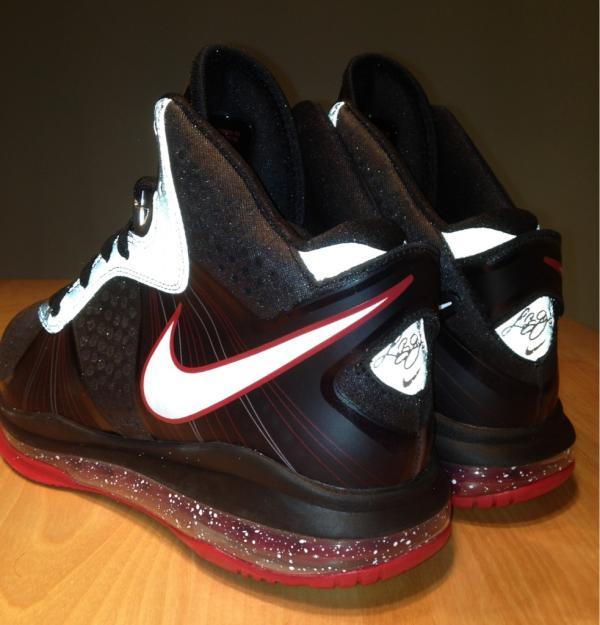 Nike LeBron 8 V2 Black/Red 3M Sample
