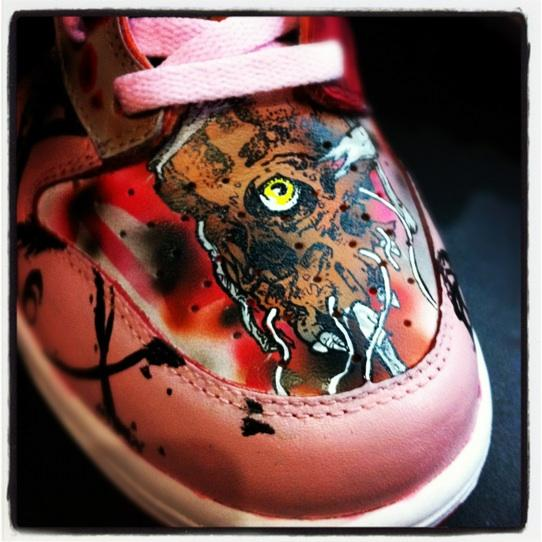 Nike SB Dunk High WTF Custom by Mache