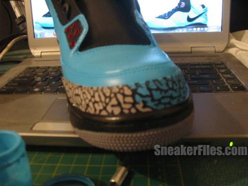 """Air Jordan Retro III (3) """"South Beach"""" Customs"""