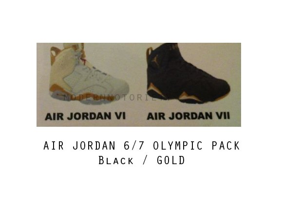 Air Jordan VI (6) and VII (7) 'Olympic Pack' - Release Info