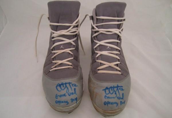 Air Jordan XI (11) 'Cool Grey' Baseball Cleat - CC Sabathia PE