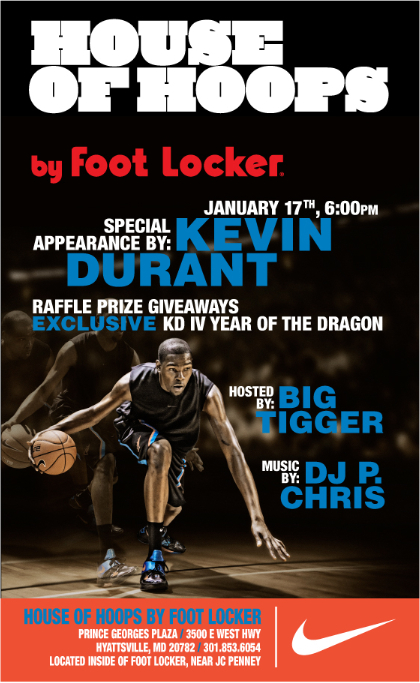 Kevin Durant To Launch Nike Zoom KD IV 'YOTD' at Maryland House of Hoops