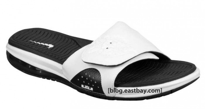 best sneakers 63284 7ae79 Nike Air LeBron Slide 'Black/White' - Now Available ...
