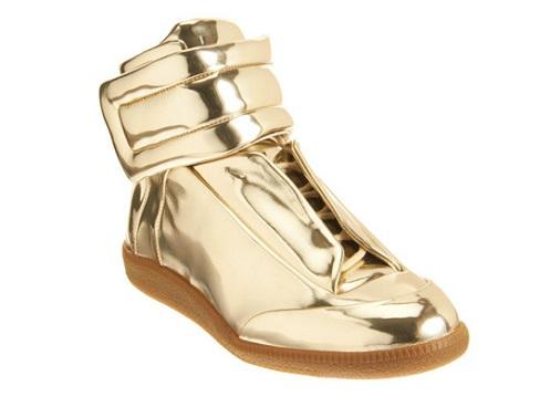 Maison Martin Margiela Metallic Gold Mirror Sneaker