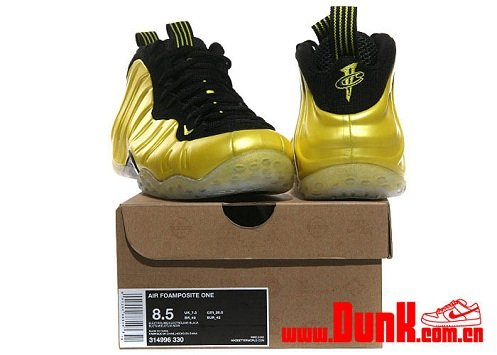 ... nike air foamposite one electrolime golden state warriors new images