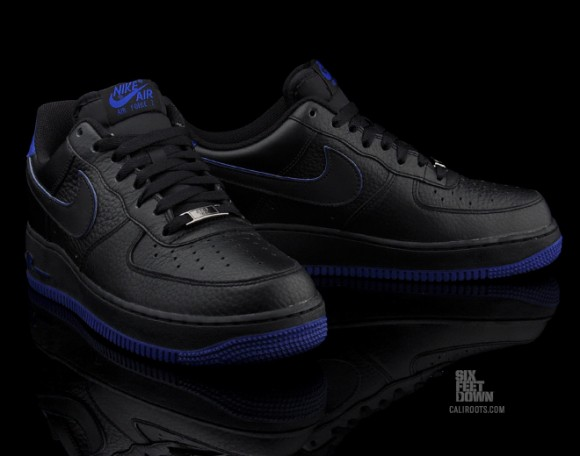 Nike Air Force 1 Low 'Black/Royal' - Now Available
