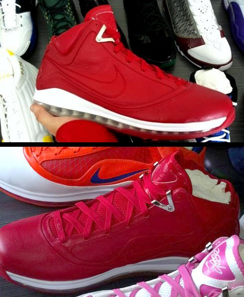 Nike Air Max LeBron VII (7) NFW Red PE - Unreleased Sample