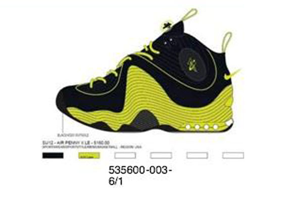 Nike Air Penny II QS 'Black/Atomic Green' - Summer 2012