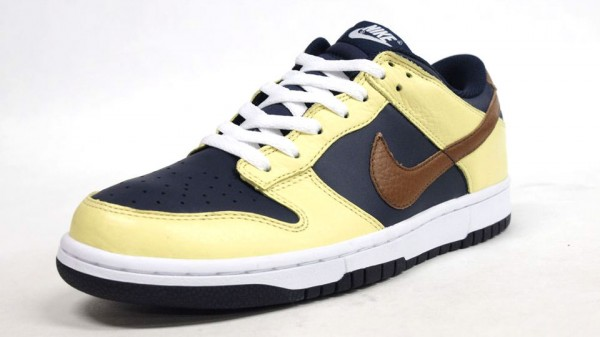 Nike Dunk Low - Yellow/Navy-Brown - Now Available