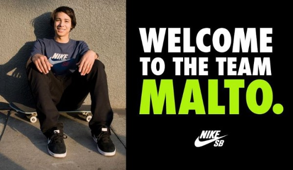 Nike SB Signs Sean Malto
