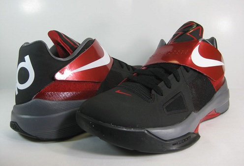 Nike Zoom KD IV - Black/White-Varsity Red
