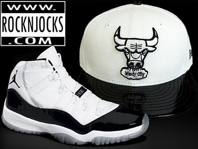 Rock'N'Jocks Chicago Bulls Custom 'Concord' Fitted