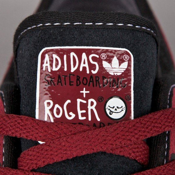 Roger Skateboards x adidas adiEase Low 'Cardinal' - Now Available