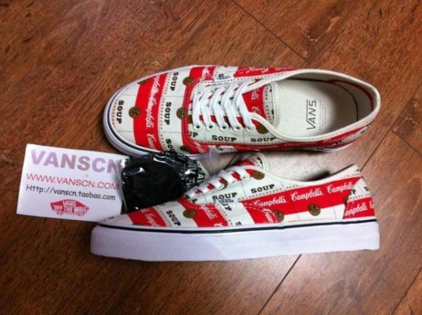 Supreme x Vans Authentic 'Campbell's Soup' - Spring 2012