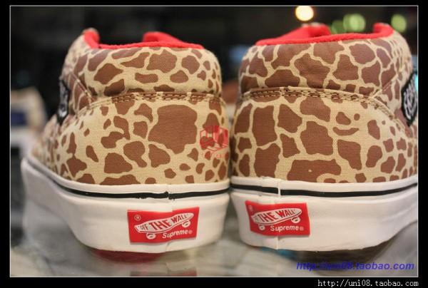 Supreme x Vans Half Cab 'Khaki Giraffe' - First Look
