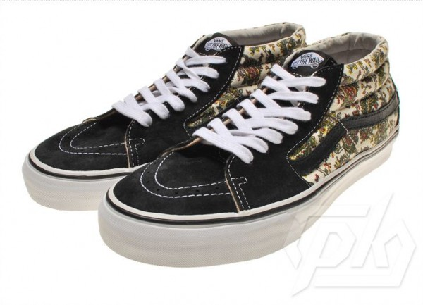 Supreme x Vans Sk8 Mid 'White Paisley' - First Look
