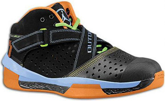 Air Jordan 2010 Outdoor Black Harbor Blue Agent Orange Mean Green