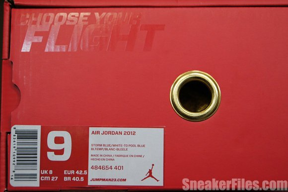 Air Jordan 2012 Year of the Dragon Box Label