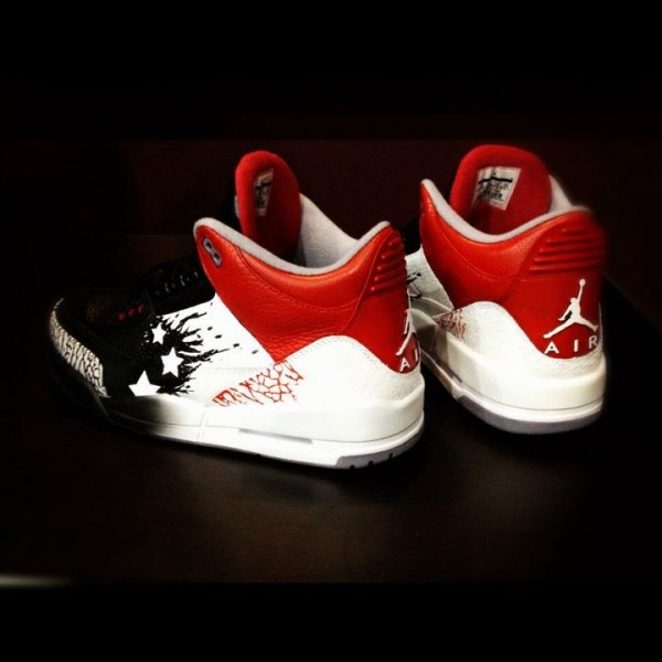 Air Jordan III (3) 'Dave White WINGS For The Future' Custom by Mache
