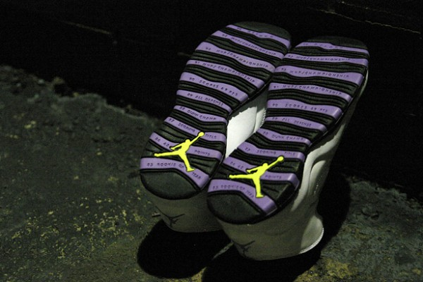 Air Jordan X (10) GS 'Violet Pop' - One Last Look