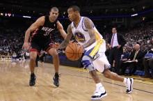 Celebrity Sneaker Watch: Monta Ellis Wears Air Jordan 11 Concord against the Miami Heat