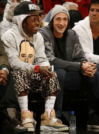 Lil Wayne Rocks Nike Air Yeezy Courtside in Miami vs. Atlanta