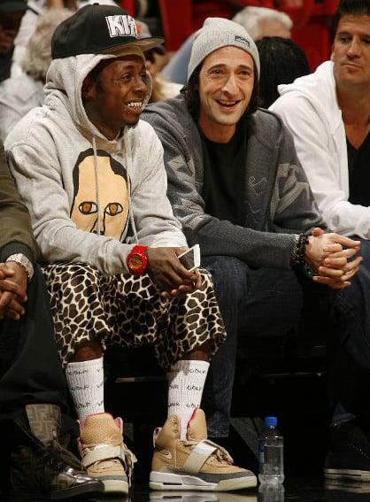 Lil Wayne Rocks Nike Air Yeezy Courtside in Miami vs. Atlanta