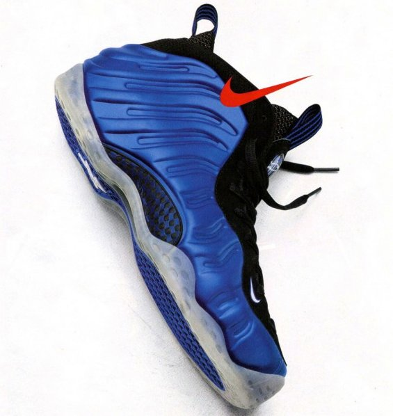 Nike Air Foamposite One Blue Carbon Fiber Sample Side View