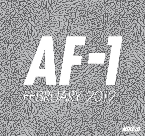 Nike Air Force 1 iD Elephant Print Option - February 2012