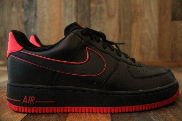 Nike Air Force 1 Low  Black Action Red  - Release Date + Info ... 98190bfb9