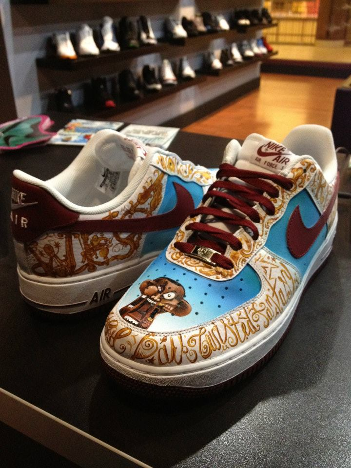 Nike Air Force 1 Low My Beautiful Dark Twisted Fantasy Custom by Mache