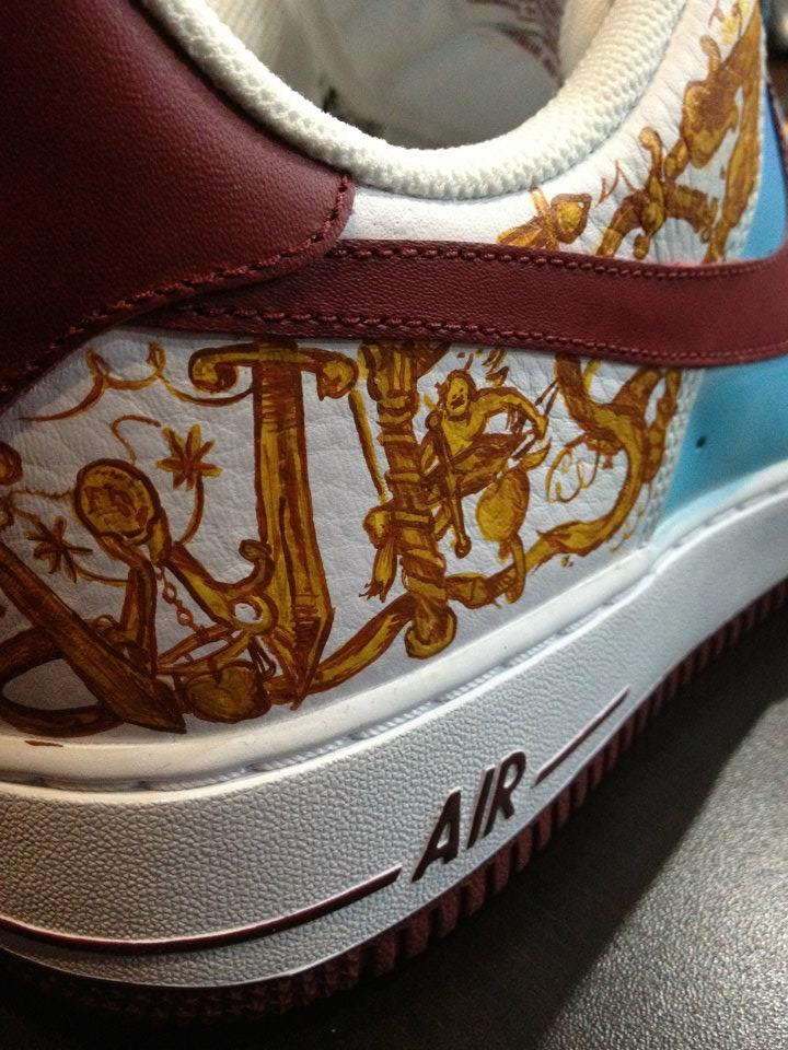 Nike Air Force 1 Low  My Beautiful Dark Twisted Fantasy  Custom by ... 2b45c2f19e41
